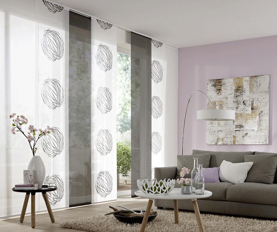 fl chenvorh nge fl chenvorhang flachbahnen und schiebevorhang fenster dekoration und. Black Bedroom Furniture Sets. Home Design Ideas