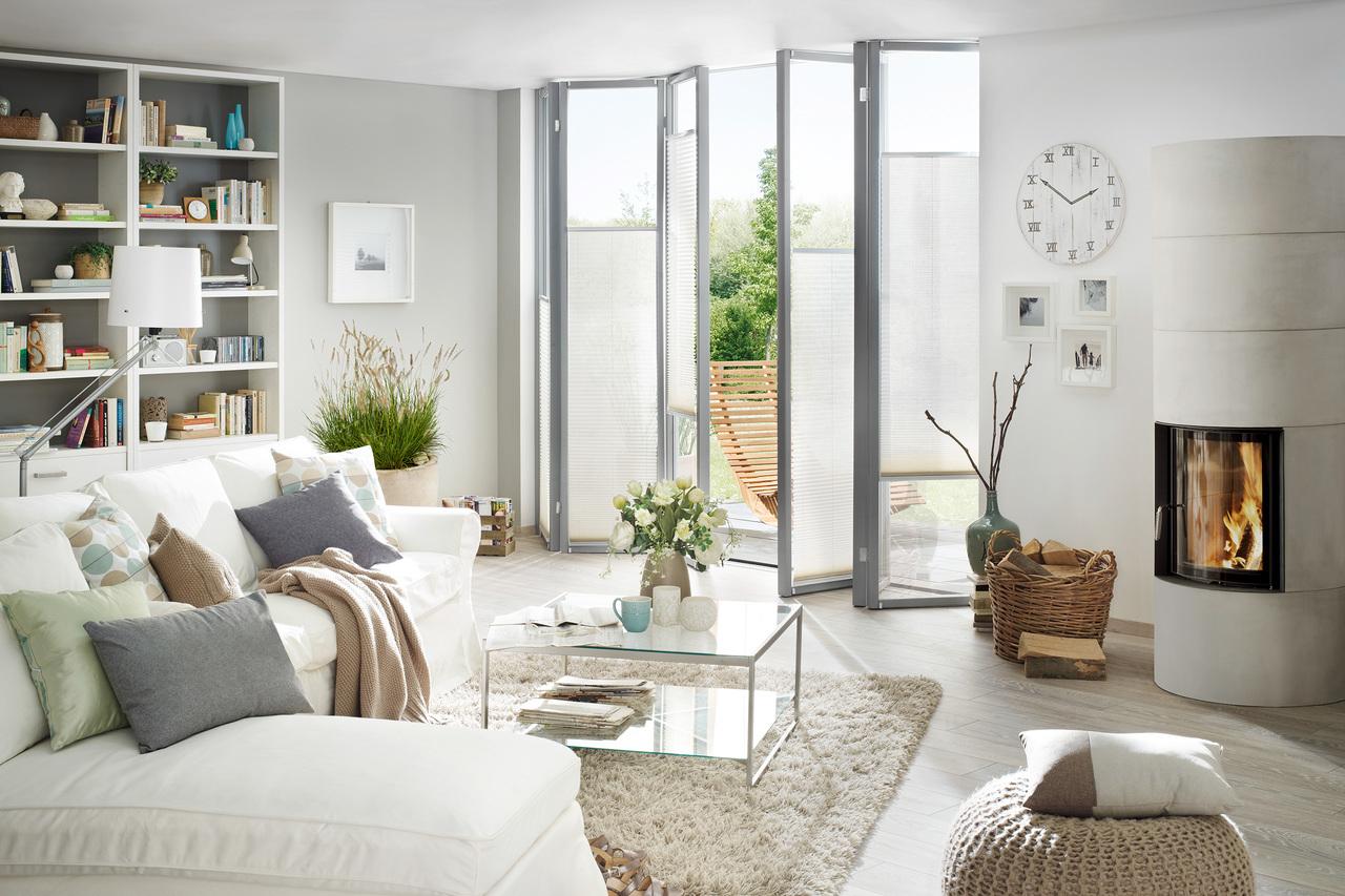 plissee anlagen und faltstores f hrender marken. Black Bedroom Furniture Sets. Home Design Ideas