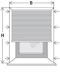 plissee wie messen montage unter den sturz with plissee. Black Bedroom Furniture Sets. Home Design Ideas